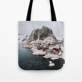 Winter in Hamnøy, Norway Tote Bag