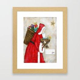 old time santa Framed Art Print