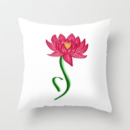 ED Lotus Throw Pillow