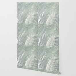 Faded Palm Leaves Wallpaper