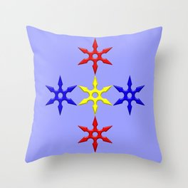 Shuriken Design version 2 Throw Pillow