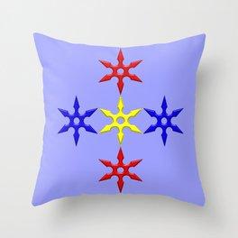 Shuriken Design version 2 Throw Pillow