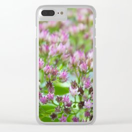 Tiny and Flowerish Clear iPhone Case