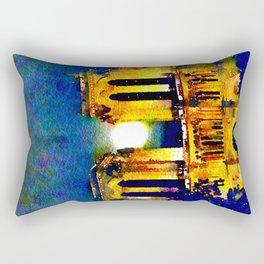 Notre Dame de Paris Full Moon Rectangular Pillow