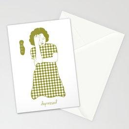 Cheongsam illustration depressed Stationery Cards