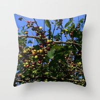 cafe Throw Pillows featuring Cafe by Camaracraft
