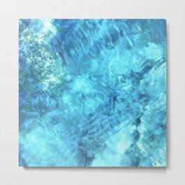 Peaceful and Calming Ocean Water Reflections Meditation Metal Print