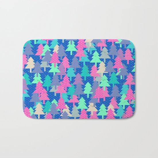 Colorful fir pattern II Bath Mat