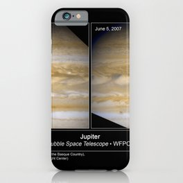 Hubble Space Telescope - Hubble Catches Jupiter Changing Its Stripes iPhone Case