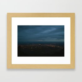 Albuquerque Night Framed Art Print