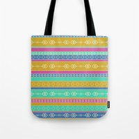 southwest Tote Bags featuring Southwest Dawn by Rebecca L. Davis
