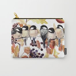 Chickadees in the Fall Carry-All Pouch