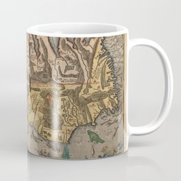 Antique Map Of Iceland 1603 Coffee Mug
