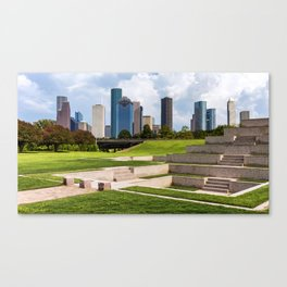 Downtown Houston Skyline from Police Officer's Memorial Canvas Print