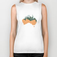 sydney Biker Tanks featuring Sydney - Australia by ahutchabove