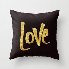 Love Handwritten Type Throw Pillow