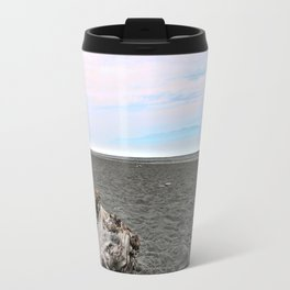 Black Sand Color Sky Travel Mug