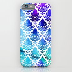 Damask in Cool Purple iPhone 6s Slim Case