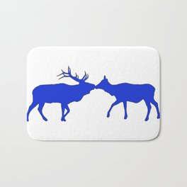 Graphic Kissing Swedish Elk Bath Mat