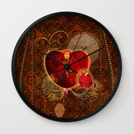 Wonderful steampunk heart Wall Clock