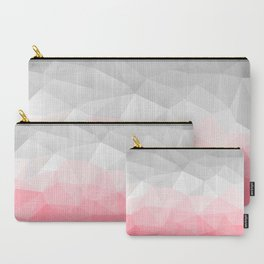 pink and grey polygon 2018 Carry-All Pouch
