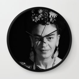 Frida Black and white Wall Clock