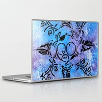 n7 Laptop & iPad Skins featuring Lucky goes pop n7 by Lucky art