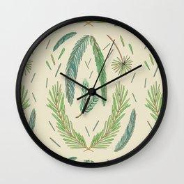 Pine Bough Study Wall Clock