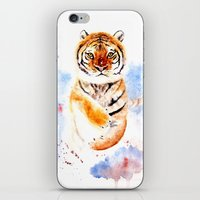 tiger iPhone & iPod Skins featuring Tiger by Anna Shell