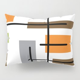Mid Century Modern Cubicle Art Pillow Sham