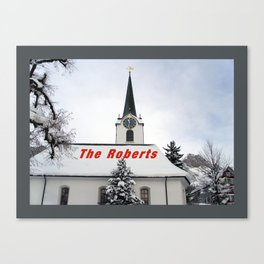 Christmas Church - Personalized Christmas Gifts - White Christmas Canvas Print