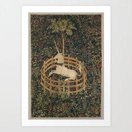 The Unicorn in Captivity (1495) Art Print