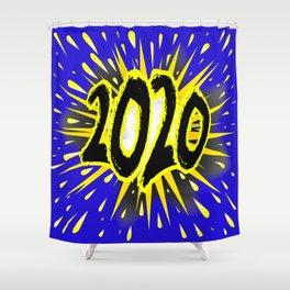 2020 Cartoon Explosion Shower Curtain