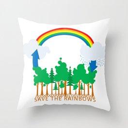 Save the Rainbows Throw Pillow
