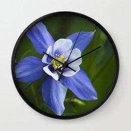 Woodland Columbine Wall Clock