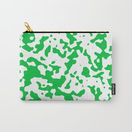 Spots - White and Dark Pastel Green Carry-All Pouch