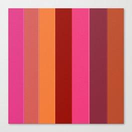 Modern girly pink fashion color block stripes Canvas Print