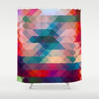 triangle Shower Curtains featuring TRIANGLE by Hands in the Sky