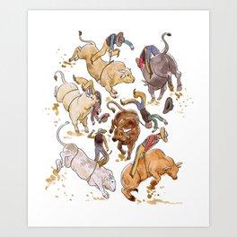 Bullriders Art Print