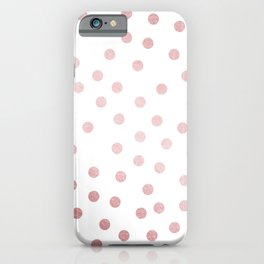 Simply Dots in Rose Gold Sunset iPhone Case