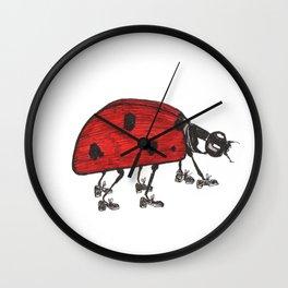 Ladybug Wearing Tap Shoes Gotta Dance Wall Clock