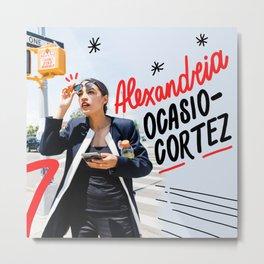 Alexandria Ocasio-Cortez Metal Print