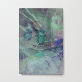 Dry blue leaf Metal Print