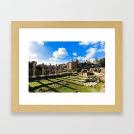 Imperial fora - Rome - Italy Framed Art Print
