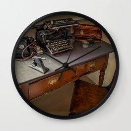 Vintage Remington Typewriter Wall Clock