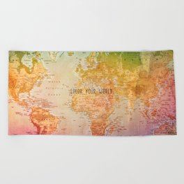 Color your World Beach Towel