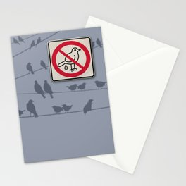 Birds Sign - NO droppings 1 Stationery Cards