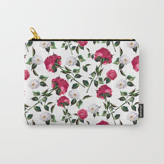 Summer Floral Pattern Carry-All Pouch