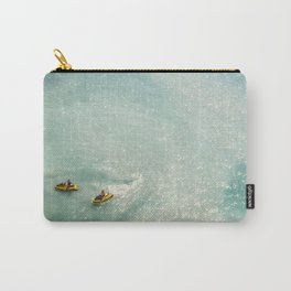 Jet Ski Friends in the Ocean | Paradise | Beach Mood | Aerial Photography | Ocean Print Carry-All Pouch