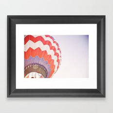going up::denver Framed Art Print